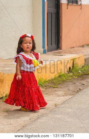Parade In La Villa In Panama