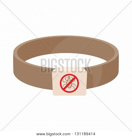 Collar fleas icon in cartoon style isolated on white background. Veterinary and medicine symbol