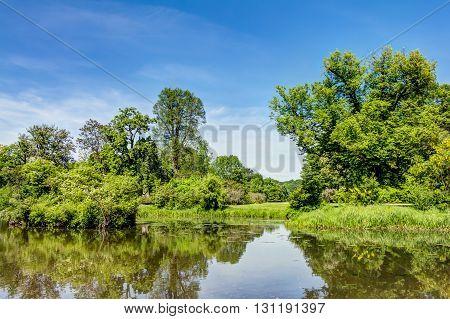 Muskau Park In The Upper Lusatia