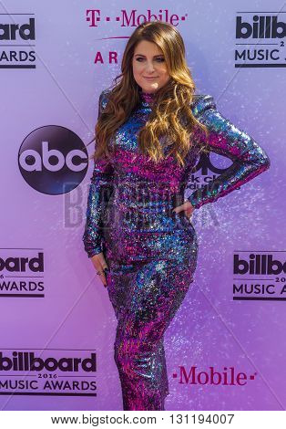 LAS VEGAS - MAY 22 : Singer Meghan Trainor attends the 2016 Billboard Music Awards at T-Mobile Arena on May 22 2016 in Las Vegas Nevada.