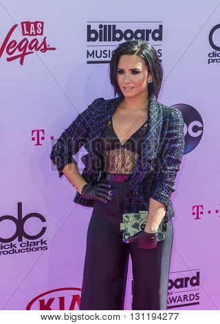 LAS VEGAS - MAY 22 : Recording artist Demi Lovato attends the 2016 Billboard Music Awards at T-Mobile Arena on May 22 2016 in Las Vegas Nevada.