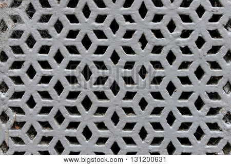 Victorian perforated cast iron decorative grille uk