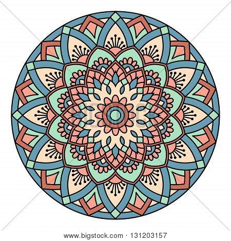 Ornamental round lace pattern. EPS 10 format.