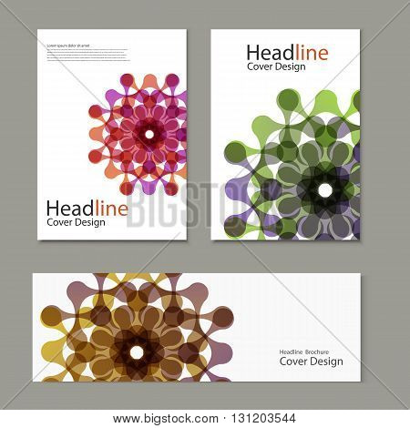 Vector pattern with brochure snd banner abstract figures.