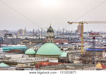 panorama of Berlin with French Dom and other landmarks