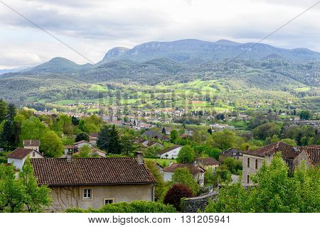 a small town in the mountains of the Pyrenees