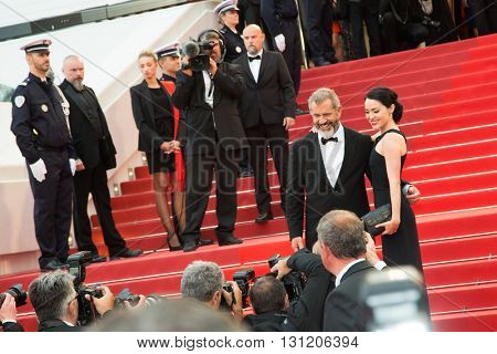 Rossalind Ross, Mel Gibson  at the Palme D'Or Winner Red Carpet at the 69th Festival de Cannes. May 22, 2016  Cannes, France