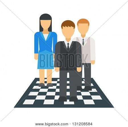 Business strategy vector illustration.