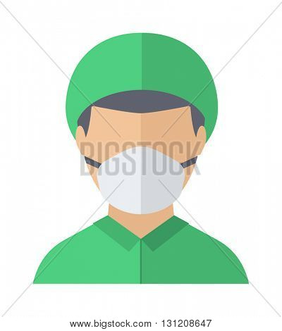 Doctor face vector illustration.