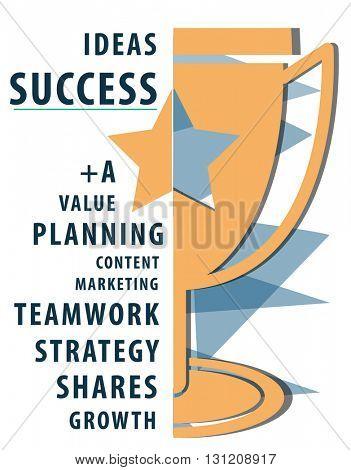 Success Goal Teamwork Value Planning Word Concept