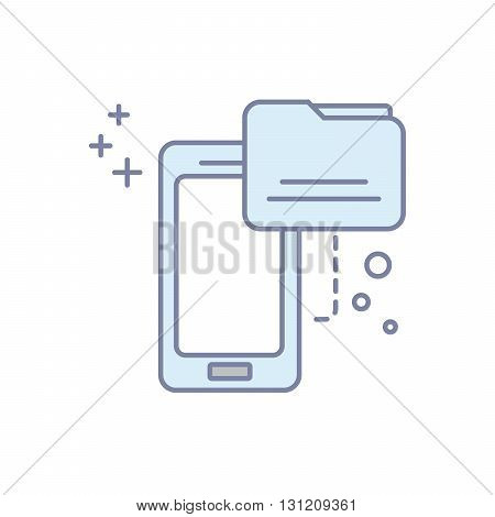 Modern concept file mobile icon. Flat line illustration.