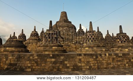 Borobudur is a old buddhism temple in indonesia on the island java.