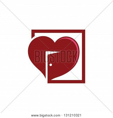 Symbol of Open Heart Square Door Realty