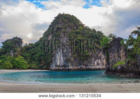 View of koh hong island krabiThailand Tropical beach scenery