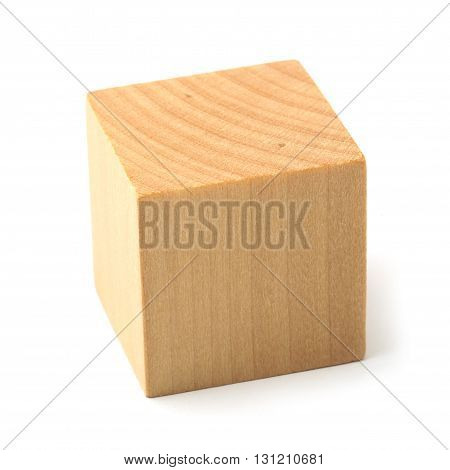 Wooden Block On White Background