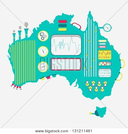 Map Of Australia Machine