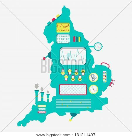 Map Of England Machine