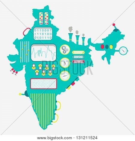 Map Of India Machine