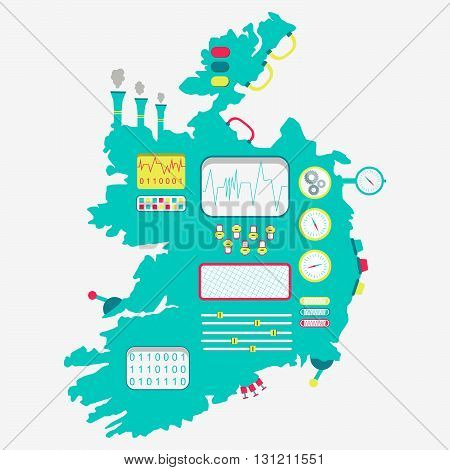 Map Of Ireland Machine