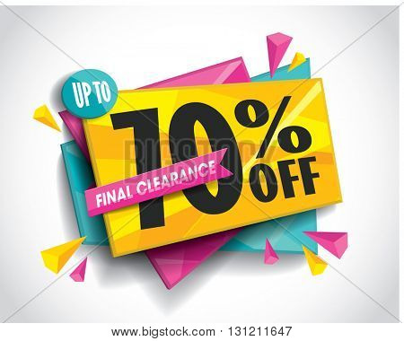 Sale layout design with abstract triangle elements. Vector illustration.