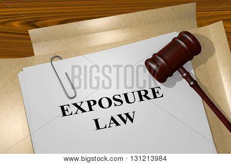 Exposure Law Legal Concept