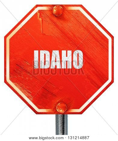 idaho, 3D rendering, a red stop sign