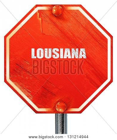 lousiana, 3D rendering, a red stop sign