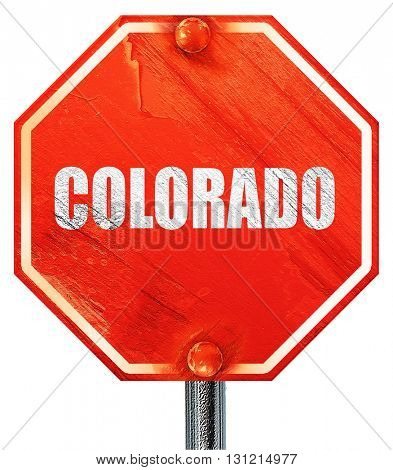colaroda, 3D rendering, a red stop sign