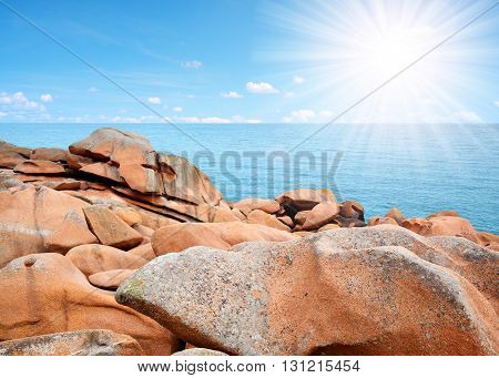 Ploumanach, Pink Granite Coast in Brittany, France