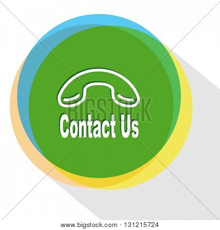 contact us. Internet template. Vector icon.