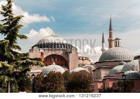 Oriental building with towers. Istanbul, Turkey