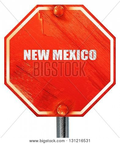 new mexico, 3D rendering, a red stop sign