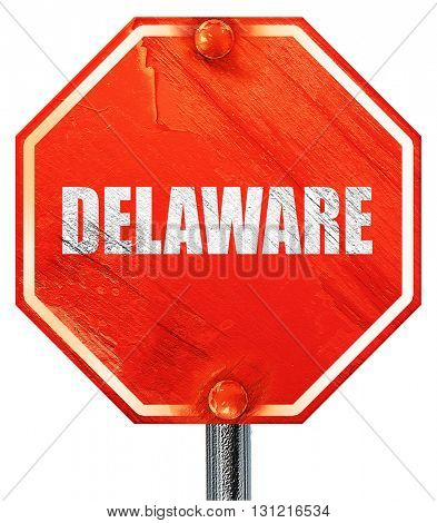 delaware, 3D rendering, a red stop sign