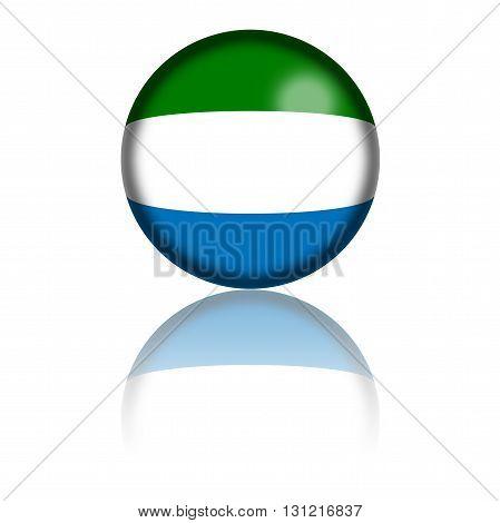 Sierra Leone Flag Sphere 3D Rendering
