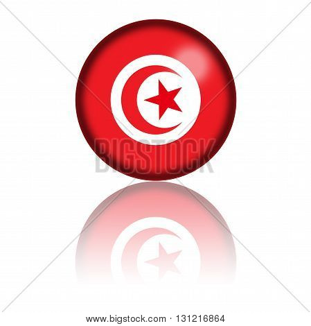 Tunisia Flag Sphere 3D Rendering