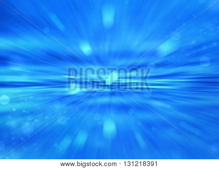 Abstract blur blue background with glowing elements