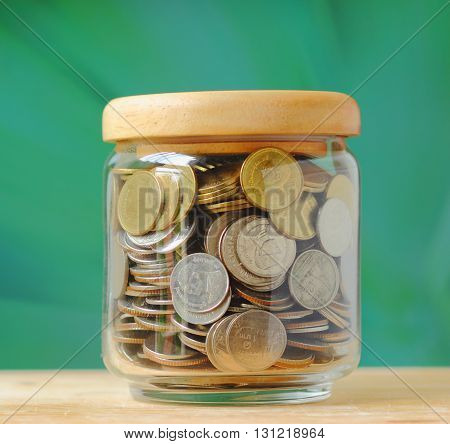 Jar Full Of Coins