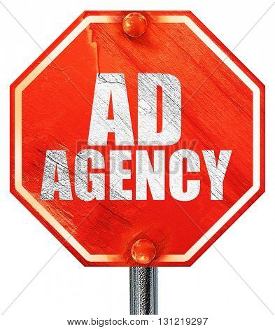 ad agency, 3D rendering, a red stop sign