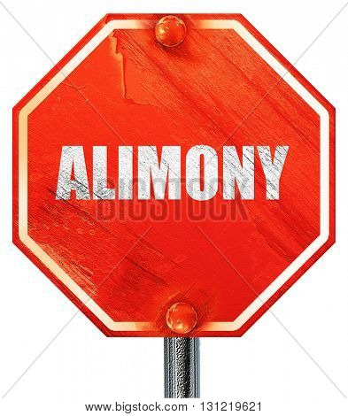alimony, 3D rendering, a red stop sign