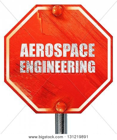 aerospace engineering, 3D rendering, a red stop sign