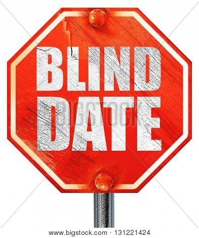 blind date, 3D rendering, a red stop sign