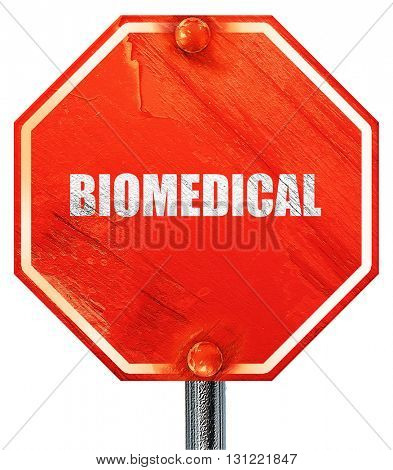 biomedical, 3D rendering, a red stop sign