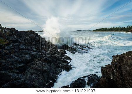 Pettinger Point Tofino British Columbia Canada Waves