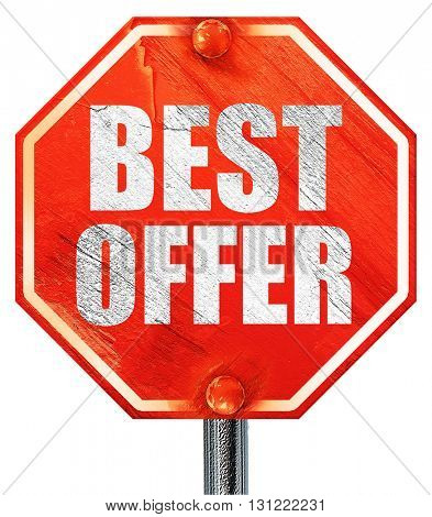 best offer, 3D rendering, a red stop sign