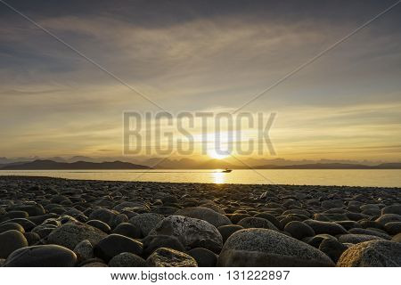 Fishing Boat Fishing Quadra Island Rocky Coastline
