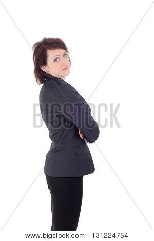 portrait of a woman in a trouser suit