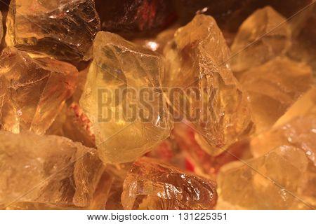 Yellow Citrin Minerals Texture