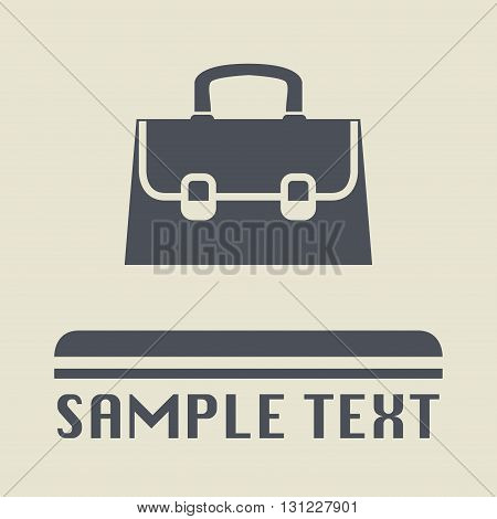 Abstract Briefcase icon or sign, vector illustration