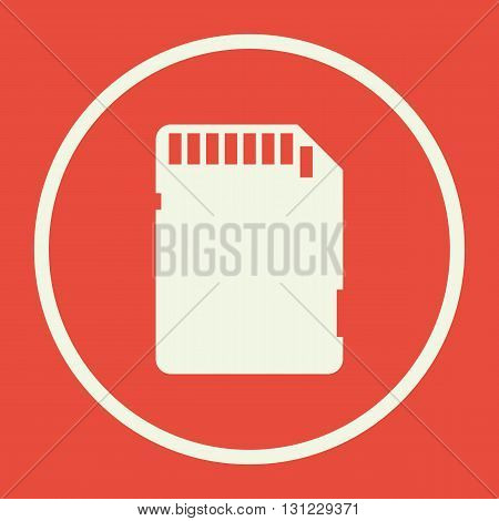 Sd Card Icon In Vector Format. Premium Quality Sd Card Symbol. Web Graphic Sd Card Sign On Red Backg