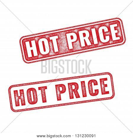 Hot Price vector grunge textured red rubber stamp isolated on white background